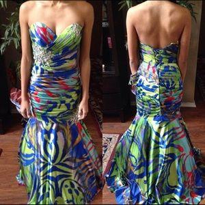 NWT Tropical prom dress